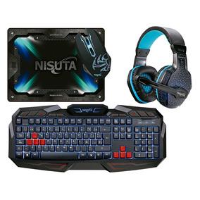 Ns-kmhco: Combo Xtreme Gaming Teclado, Auricular, Mouse, Pad