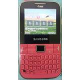 Celular Samsung Gt C3222 Chat Dois Chips Rosa Frete Grátis