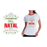 Camisetas Natalina Baby Look Camisa Feliz Natal Presente Top