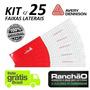 Faixa Refletiva Avery Caminhão Bau Carreta Sider Kit C/ 25