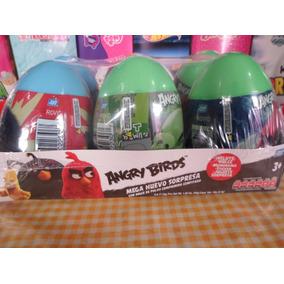 Mega Huevo Sorpresa Angry Birds 6pz Plastico