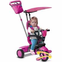Triciclo Carreola Con Techo 4 En 1 Para Niñas Smartrike Rosa