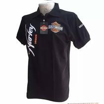 Playera Harley Davidson Tipo Polo De Algodon100%