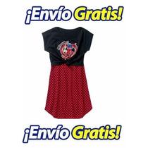 Vestido Para Niña Ladybug Miraculous Original