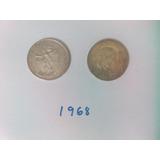 Moneda 25 Pesos Plata 1968 Juegos Olimpicos Juego Pelota