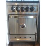 Cocina Semi Industrial 4 Hornallas Totalm. Acero Inox. 55x55