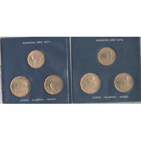 Mundial Futbol 1978 - 6 Monedas De Cobre,aluminio,niquel