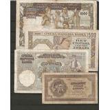 Colección 4 Billetes De Serbia Ocupación Nazi.