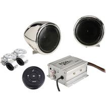 Amplificador Para Moto Con Bocinas Boss 600w Bluetooth