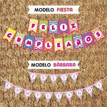 Banderines Personalizados Para Cumpleaños, Fiestas, 15 Años.