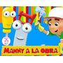 Kit Imprimible Manny A La Obra Diseñá Tarjetas Cotillon #1