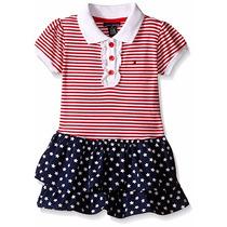 Vestido Tommy Hilfiger Infantil Bebê Com Babados - Original