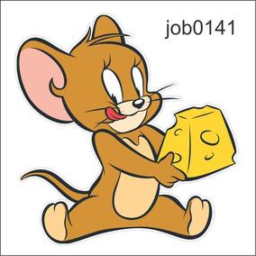 Adesivo Decorativo Jerry Desenho Queijo Comendo Job0141