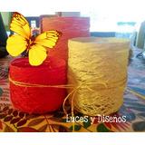Fanales 3 En 1 Hilo Colores A Elección Centro De Mesa