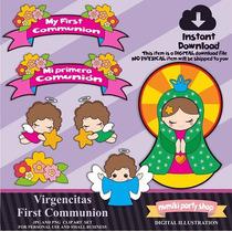 Kit Imprimible Mi Primera Comunión 7 Imágenes * Promo