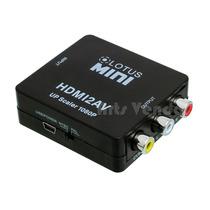 Mini Conversor Adptador Hdmi Para Rca Video Componete 3rca