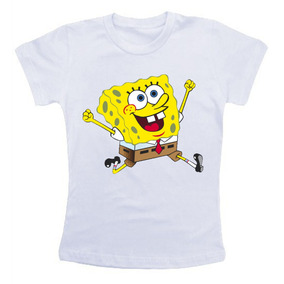 Camiseta Infantil / Criança - Bob Esponja Calça Quadrada