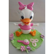 Adorno De Torta En Porcelana Fria - Daisy / Pato Donald