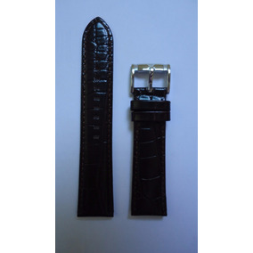 Pulseira Couro Marrom Relógio Emporio Armani 22mm Textura
