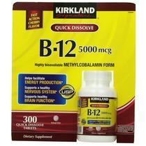 Vitamina B12 Sublingual Marca Kirkland 300 Capsulas
