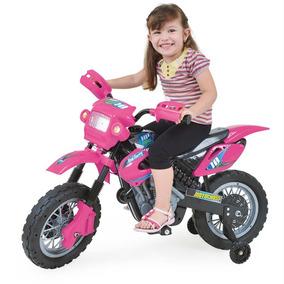 Motinha Elétrica Infantil Motocross Rosa Homeplay