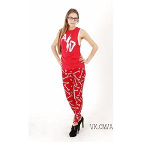 Regata Camiseta Electrical Tape Red Abbey Dawn Avril Lavigne