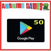 Google Play Tarjeta Prepaga Valor 50 Usd / Usa