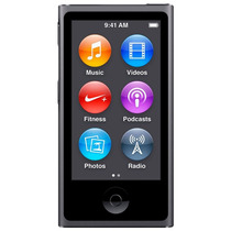 Ipod Nano Apple Mkn52bz/a 16gb 2,5 Rádio Fm Cinza Espacial