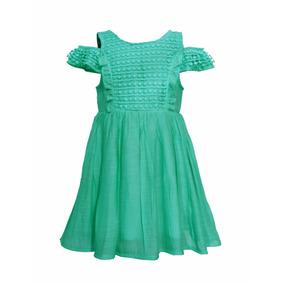 Vestido De Nena Bordado Con Manguita, Brishka, N-0085