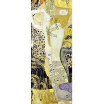 Lienzo Tela Gustav Klimt Serpientes De Agua 150 X 60 Cm Arte