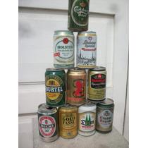 10 Latas Vacias Cerveza Importada Colección