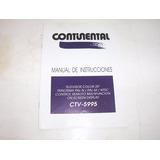 Tv Continental Manual Usuario Instalacion 20 Ctv 5995