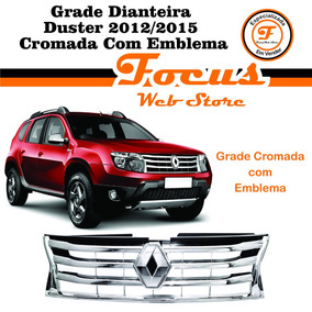 Grade Dianteira Duster 2012 2013 2014 2015 Cromada Emblema