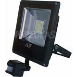 Reflector Led 5w Equivale 10w C/ Sensor Mov. Exterior