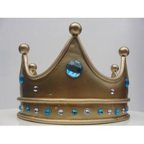 Corona Príncipe/princesa En Porcelana Fría Adorno Para Torta