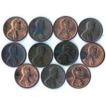 Estados Unidos Lote X 11 Lincoln Cents - Variedad De Años