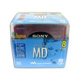Mini Disc Sony Md 80 Minidisc Novo Lacrado Com 08 Unidades