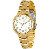 Relógio Lince Folheado A Ouro Lrgl008l Original