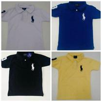 Camisa Polo Infantil Manga Curta Menino Camiseta Masculino