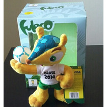 Fuleco Tatu Bola Mascote Copa 2014 Pelúcia 18cm