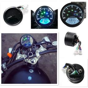 Painel Digital Motos Led Lcd Universal Odometro Conta Giros
