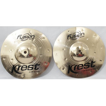 Prato Hi-hat Chimbal 10 Serie Fusion Krest Cymbals Bronze B8