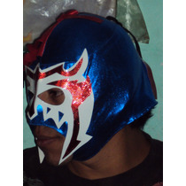 Mascara De Luchador Escorpion Dorado Lycra Economica Adulto