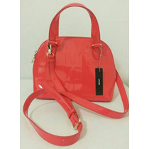Bolsa Dkny Red Embossed Patent Crossbody Satchel 100% Nueva