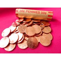 50 Monedas Lincoln Cent Shield Año 2016 Rollo Nuevo Unc