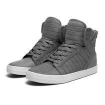 Supra Skytop Dark Grey Skate Shoe