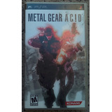 Metal Gear Acid - Psp Completo Original No Funciona - Rat5