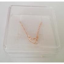 Cordão Feminino Rommanel Coração Cristal Namorados 531182