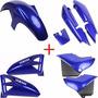 Kit Carenagens Moto Ybr125 + Tanque Combustível Azul + Frete