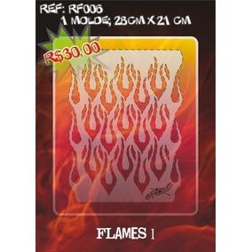 Molde Vazado True Fire Aerografia E Pinturas Rf006